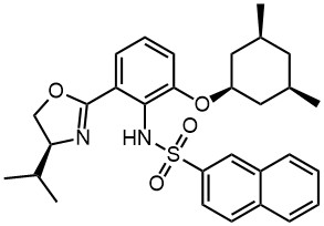 N-(2-(((1s,3R,5S)-3,5-dimethylcyclohexyl)oxy)-6-((S)-4-isopropyl-4,5-dihydrooxazol-2-yl)phenyl)naphthalene-2-sulfonamide