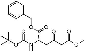 Hexanedioic acid, 2-[[(1,1-dimethylethoxy)carbonyl]amino]-4-oxo-,6-methyl 1-(phenylmethyl) ester, (2S)-